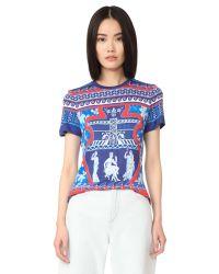 Mary Katrantzou | Blue Iven T-shirt | Lyst