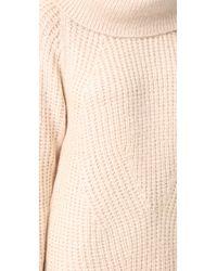 MLM Label - Multicolor Cowl Neck Knit Dress - Lyst