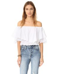 MLM Label | White Maison Crop Top | Lyst