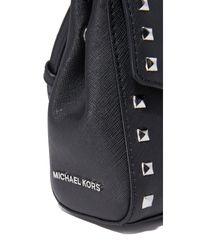 MICHAEL Michael Kors - Black Studded Ava Crossbody Bag - Lyst