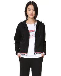 Moschino - Black Hoodie Sweatshirt - Lyst