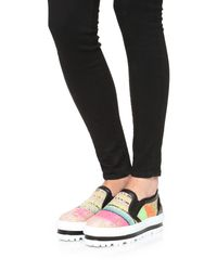 MSGM - Multicolor Slip On Wedge Sneakers - Lyst