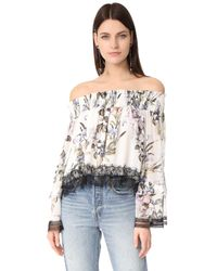 Nicholas | Multicolor Iris Floral Off Shoulder Blouse | Lyst