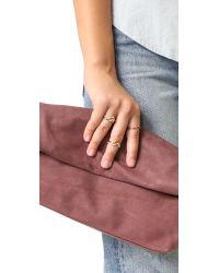 Noir Jewelry - Multicolor Metal Arris Stackable Ring Set - Lyst