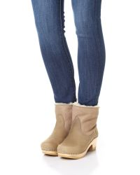No. 6 - Blue Shearling Booties - Lyst