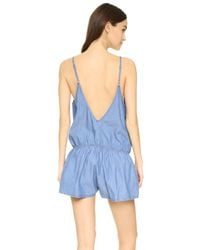 One Teaspoon - Blue Delilah Chambray Jumpsuit - Lyst