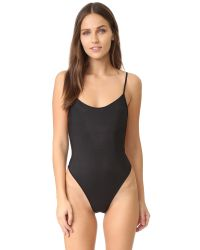 Only Hearts | Black Second Skins Bodysuit | Lyst
