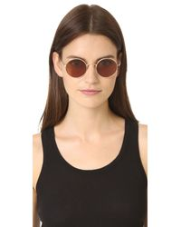 Oliver Peoples - Metallic After Midnight Flat Lens Sunglasses - Lyst