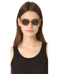 Oliver Peoples - Blue Parquet Sunglasses - Lyst