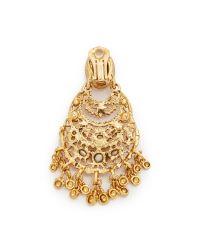 Oscar de la Renta - Metallic Crystal Clip On Earrings - Lyst