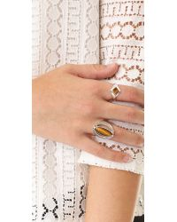 Pamela Love - Metallic Apex Inlay Signet Ring - Lyst