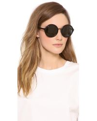 3.1 Phillip Lim - Black Glam Round Sunglasses - Lyst