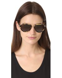 3.1 Phillip Lim - Brown Aviator Sunglasses - Lyst