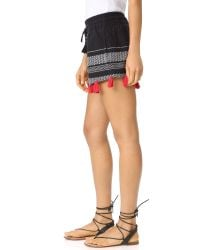 Piper - Black Tassle Shorts - Lyst
