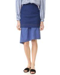 Paper London | Blue Hamilton Skirt | Lyst