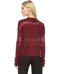 Public School - Red Loose Mohair Pullover - Lyst