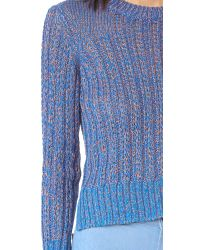 Rag & Bone - Blue Adira Crew Neck Sweater - Lyst
