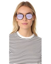 Ray-Ban - Gray Mirrored Aviator Sunglasses - Lyst