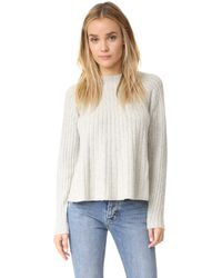 Rebecca Taylor | Gray Swing Ribbed Sweater | Lyst