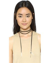 Rebecca Minkoff | Multicolor Tusk Leather Wrap Necklace | Lyst