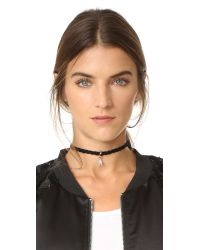 Rebecca Minkoff | Multicolor Pave Chevron Charm Choker Necklace | Lyst