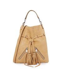 Rebecca Minkoff | Natural Large Moto Drawstring Bag | Lyst
