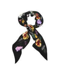 Rockins | White Floral Super Skinny Silk Scarf | Lyst