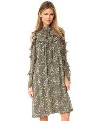 Robert Rodriguez | Green Floral Dress | Lyst