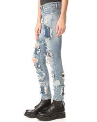 R13 - Blue Alison Crop Jeans - Lyst