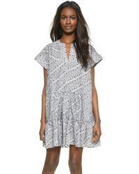 Saloni - White Ashley Dress - Lyst