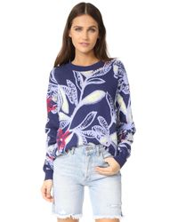 See By Chloé - Blue Printed Pullover - Lyst