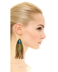 Serefina - Multicolor Peacock Earrings - Lyst