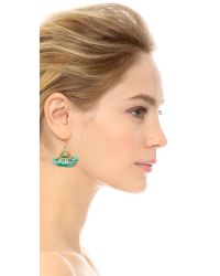 Shashi - Green Lilu Earrings - Lyst