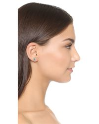 Shashi - Metallic Lilan Pave Stud Earrings - Lyst
