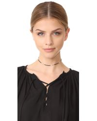 Shashi - Black Choker Necklace - Lyst
