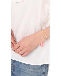 Shashi - Pink Sonia Tassel Cuff Bracelet - Lyst