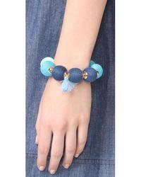 Shashi - Blue Matilda Bracelet - Lyst