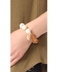 Shashi - White Matilda Bracelet - Lyst