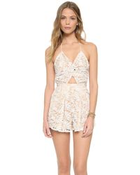 6 Shore Road By Pooja - Natural Skinny Dippers Romper - Lyst
