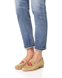Soludos - Multicolor Embroidered Smoking Loafers - Lyst