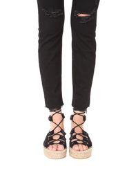 Soludos - Black Ghillie Platform Sandals - Lyst