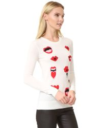 Sonia by Sonia Rykiel - Black Lips Sweater - Lyst