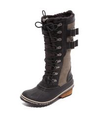 Sorel   Black Conquest Carly Ii Boots   Lyst