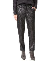 Splendid | Black Sequin Pants | Lyst