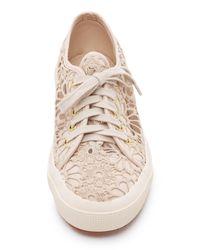 Superga - Natural Macrame Cotu Sneakers - Lyst