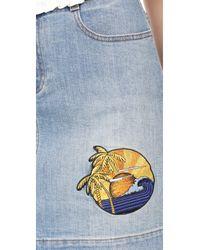 Stella McCartney - Blue Denim Skirt - Lyst