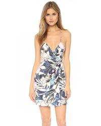 StyleStalker Multicolor Hawaiian Sunset Wrap Dress