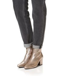 Steven by Steve Madden - Metallic Wes Booties - Lyst