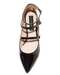 Steven by Steve Madden | Black Gantry Mary Jane Demi Wedge | Lyst