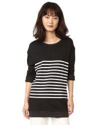 Sundry | Black Stripes Pullover Sweatshirt | Lyst